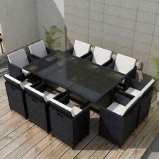 Sets de muebles de jardín comedores exteriores negros ...