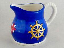 Vintage Geo Z Lefton 1998 Nautical Marine Sea Theme China Coffee Tea Creamer Set
