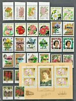FLOWER Thematic STAMP Collection 1970s-1990s C/Wealth UNMOUNTED MINT Ref:TT748