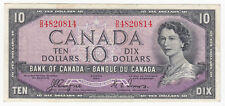 1954 Bank of Canada $10 - Devil's Face Banknote S/N: D/D4820814