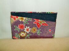 *NEW* PURPLE BUTTERFLY FLORAL CARD WALLET