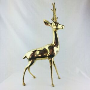 NEW Collectable Brass Reindeer Christmas Decoration XMAS Rudolph GIFT