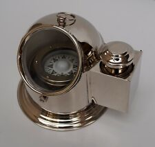 Nautical vintage marine binnacle boat oil lamp brass ship compass gimbal gift
