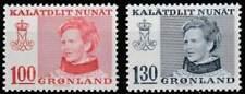 Groenland postfris 1977 MNH 101-102 - Koningin Margrethe II
