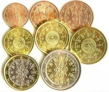 Portugal Coins X8 Set 2002 2€euro To 1cent Comple New UNC from Bags