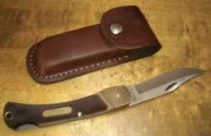 Vintage USA Schrade 6-0T Old Timer  Lockback Knife & Schrade Leather Snap Sheath