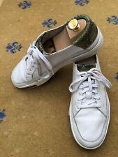 Gucci Baskets Homme Baskets Blanc Vert Chaussures Cuir UK 8 US 9 42 peau de serpent