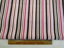 Baby Wale Corduroy Fabric Soft 21-Wale Pink Brown Stripe Apparel Bthy