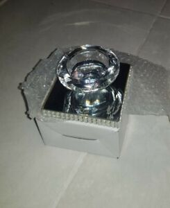 Glass Tea Light Holder Mirrored Glass Candle Holder Crushed Dimaonds Effect New