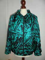 vintage 80er Nylon Jacke jacket glanz shiny crazy pattern oldschool 80`s Gr.M 42
