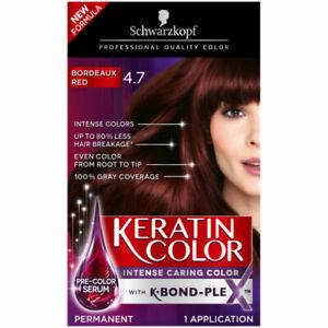 Schwarzkopf Keratin Color Permanent Hair Color Cream, 4.7 Bordeaux Red