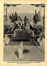 Los kaiserkrönung en la India (Begum of Bhopal) Historical memorabilia 1912