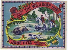 The Wild Boar Hunt  original Spanish Orange  Crate label