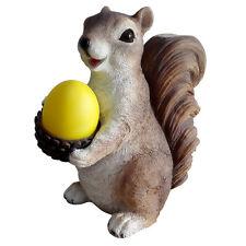 Gardenwize Solar Powered Light Garden Home Squirrel With Acorn Ornament Statue