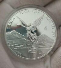 2014 Mexico - 1 oz Silver Libertad Proof Coin in Mint Capsule-LOW MINTAGE