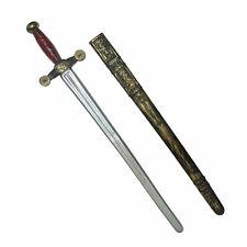 "Gold Knight Sword & Scarbbard Adult Medieval Warrior Halloween Costume Prop 29"""