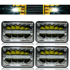 4x LED Headlights For Freightliner FLD120 FLD112 4''x6'' Light Hi/Lo Sealed Beam