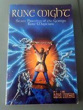 Rune Might: Secret Practices of the German Rune Magicians Edred Thorsson Runes