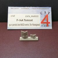 CAT4 R48025 F-14A Tomcat Gun Panels late NACA Vents Hasegawa, 1/48 scale resin