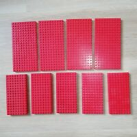 LEGO PARTS - X9 qty Brick Modified 10x20 and 8x16 Red Excellent