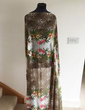 Retro Floral/Flower Animal Print Washed Chiffon Dressmaking Fabric