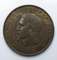 1856 France 10 Centimes - Napoleon III - gEF - Lot 182