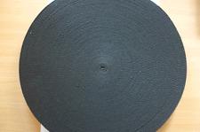 Cotton Polyester Webbing, Belt, Bag, Straps, Black, 25mm wide, 1 Metre