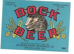 Bock Beer IRTP Label