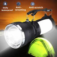Solar Power Rechargeable Battery LED Flashlight Tent Light Lantern Lamp  JCAU