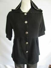Faith connexion Sweatshirtjacke Shirt Bluse schwarz verzierter Rücken Gr.M (Z63)