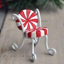 Mini Candy Cane Chair set /2  Dollhouse Miniature Fairy Gnome Garden 16690