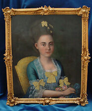 BAROCK *Ernestine Amalie Bouginé* 18.Jh.,Portrait,Öl/Lw. * Möglicherw. TISCHBEIN