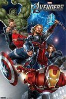 2012 MARVEL COMICS AVENGERS GROUP IRON MAN HULK CAPTAIN AMERICA 22x34 NEW POSTER