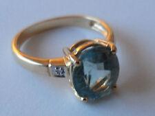 BELLA 18K Oro Giallo Paraiba Tormalina DIAMANTE GOLD RING 2.08CT Eye pulito.