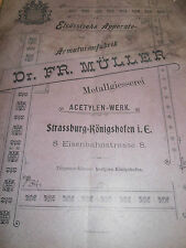 Catalogue metallurgie allemand acetylen - werk