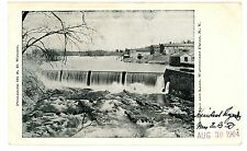 Wappingers Falls NY - 1904 VIEW OF UPPER DAM & LAKE - Postcard
