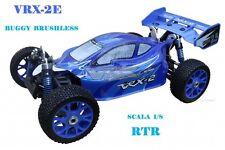 BUGGY 1:8 VRX-2E MOTORE BRUSHLESS CON BATTERIA LIPO 11,1v E RADIO 2.4gHz RTR 4WD