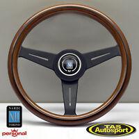 Nardi Steering Wheel ND CLASSIC WOOD Grain Black Spokes 340mm 5061.33.2000
