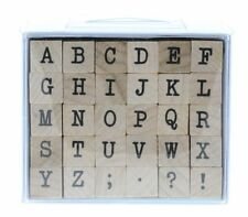 UPPER CASE TYPEWRITER ALPHABET Rubber Stamp InkaDinkaDo