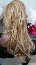 Beautiful Blonde/Brown Mix Lace Front Wig Long Curly Heat Safe