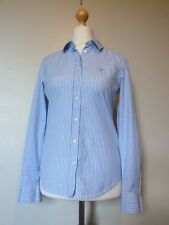 GANT Womens Long Sleeve Poplin Stretch Banker Striped Shirt BNWT RRP £79.95 Blue