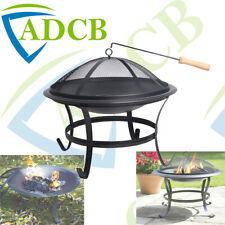 Large Fire Pit BBQ Firepit Brazier Bowl Garden Round Log Burner Heater Camping