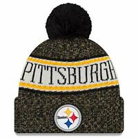 Men's New era NFL sideline Bobble Hat - Pittsburgh Steelers Hat Beanie Toque Cap