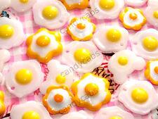 Candycabsuk 10 un. mixtas Fried Huevo Broma alimentos Cabujón Decoden Hágalo usted mismo kit encantos! nuevo!