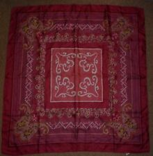 VINTAGE RUST / PINK PAISLEY SILK SCARF IN EXCELLENT CONDITION