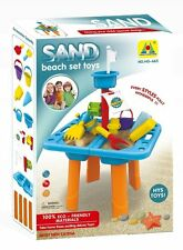 Sandbox 2-in-1 Sand and Water Wheel Table with Beach Sand Toys Set by Bo-Toys