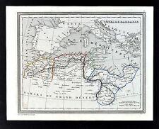 1835 Monin Fremin Map Africa Barbary Coast Alger Morocco Tunisia Tripoli Lybia