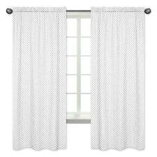 Grey Polka Dot Window Treatment Panels Curtain For Sweet Jojo Watercolor Bedding