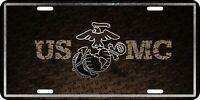 USMC Eagle Globe Anchor US Marines Diamond Graphic License Plate Tag
