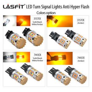 LASFIT NO Hyper Flash 3157 7443 CK Socket LED Turn Signal Light Extremely Bright
